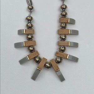 NWOT Loft modern necklace with bamboo